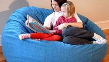 Детские бескаркасные пуфики - удобно и весело